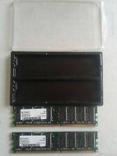 Infineon 1 GB ram 2 pcs 512 MB DDR 400 ram with case.
