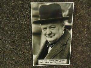 A Real Photo - WW2 - The Prime Minister Winston Churchill