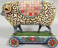 Jim Shore Wooly Ram Figurine Retired Sheep Folk Art Heartwood Creek 2007 Enesco