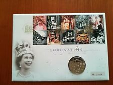 First day cover GB 2003 with same date £5 coin