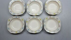 Vintage Alfred Meakin Sunray Set of Six Square Bowls