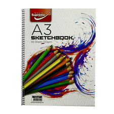 Supreme A3 Spiral 50 Sheet (100 Sides) Sketch Book 100 Gram Sketchbook Paper