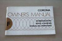 193443) Toyota Corona Betriebsanleitung 1976