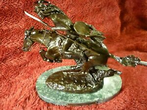 Cheyenne Bronze Baby Sculpture by Frederic Remington, New 8""