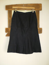 HOBBS Navy Blue Linen Skirt Size 8