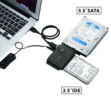 USB 3.0 to SSD/SATA/IDE Adapter for 2.5 Inch, 3.5 Inch, 5.25 Inch Hard Drives