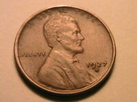 1927-D Choice XF / AU Brown Toned Original Lincoln Wheat One Cent 1 Penny Coin