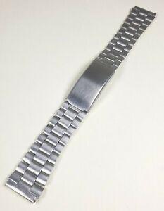 Vintage NOS 1970-80's  Mens Stainless Steel Generic Wrist Watch Bracelet 18mm