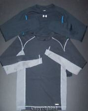 LOT Under Armour Men's sz Small SHIRTS Fitted Long Sleeve Black Gray Champion S