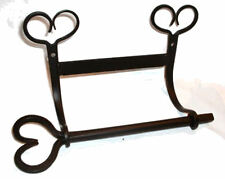 Black Wrought Iron Toilet Tissue Paper Rack Bar Holder Heart Us 2pc Wall Mounted