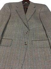 40R Chaps Ralph Lauren mens 2 Button Silk Wool Blazer Jacket Glen Check Exc!