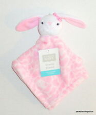New Hudson Baby BUNNY Security Blanket Pink White Style #50958 P52