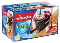 VILEDA Turbo EasyWring&Clean Komplett-Set, Wischmop und Eimer mit PowerSchleuder