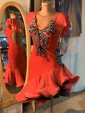 """Vestido de baile Salón de baile latino competencia/flamenco"""""""""""