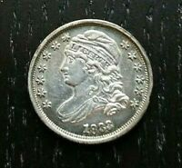 1833 Capped Bust Silver Dime 10c