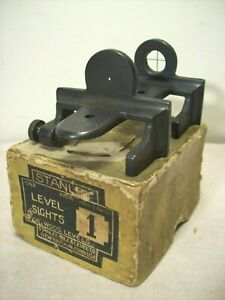 1916~STANLEY RULE AND LEVEL CO.~ONE PAIR LEVEL SIGHTS #1~UNUSED IN ORIGINAL BOX~