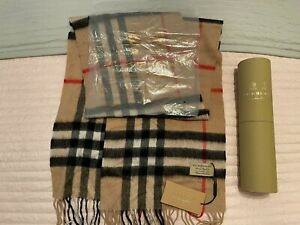 BURBERRY SCARF CASHMERE 100% AUTHENTIC BNWT UNISEX MENS WOMENS
