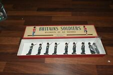 W Britains 312 GRENADIER GUARDS 9 Figures in ROAN Box! set two