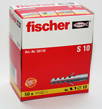 Fischer Wall Plugs S10 Pack of 50   (10mm x 55mm)