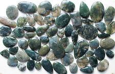 Wholsesale Lot 250Ct Natural Moss Agate Multi Cabochon Loose Gemstone Stone_Artt