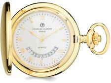 Charles Hubert Gold-Finish White Dial Pocket Watch XWA4355
