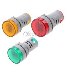 22mm Ac60 500v Led Voltmeter Voltage Meter Indicator Light Redgreenyellow