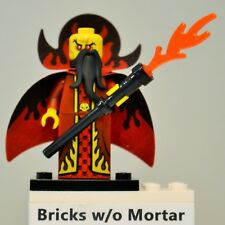 New Genuine LEGO Evil Wizard Minifig with Flame Staff Series 13 71008