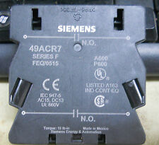 SIEMENS / FURNAS 49ACR7  2- N.O AUXILIARY FOR 3 POLE CONTACTORS  42 SERIES 1/16