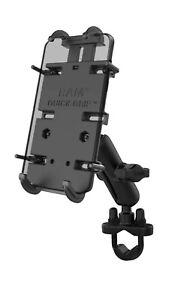 RAM Mounts RAMHOLPD4U Quick-Grip XL Large Phone Holder - Black handlebar mount