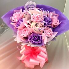 MOTHERS DAY SOCK GIFT BASKET BOUQUET REALLY PRETTY UNIQUE GIFT BIRTHDAY