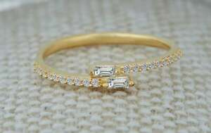 GGL CERTIFIED Natural Diamond Ring 14K Hallmarked Yellow Gold Jewelry US SIZE 5