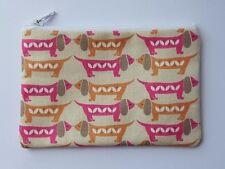 Dachshund Sausage Dogs Fabric Handmade Zippy Coin Purse Storage Pouch