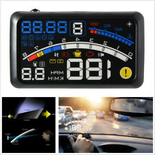 "5.5"" HUD Head-Up OBD2 Car Off-Road Dashboard Projector Speed Warning Speedometer"