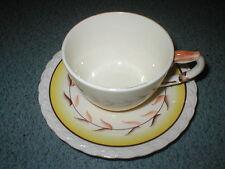 "Vintage Vernonware California Pottery ""Arcadia"" Pattern Cup & Saucer Set"