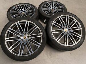 "21 "" Originale Porsche Macan Turbo III Ruota Cerchioni Estive GTS S Pirelli N0"
