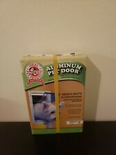 "Ideal Aluminum Pet Door White Small Flap Size 5""× 7"""