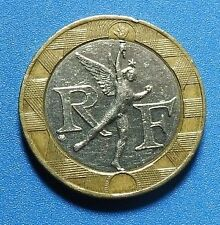 A Rare coin  of   France 10 Franc Bi Metal coin.