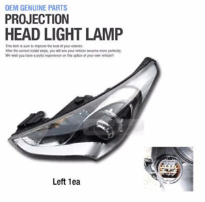 Genuine Parts Projection Head Light Lamp Left Assy for HYUNDAI 2011-17 Veloster