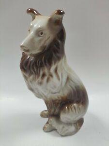"Vintage COLLIE Dog Figurine Ceramic Lassie 7"" Tall"