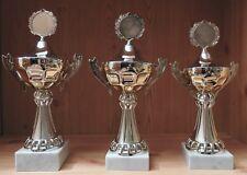 3er Serie Henkel Pokale 35/34/32cm mit Gravur + Emblem #HP181 (Pokale Medaillen)