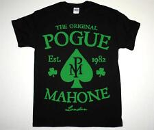 bc87762e THE POGUES POGUE MAHONE IRISH PUNK FOLK ROCK SHANE MCGOWAN NEW BLACK T-SHIRT