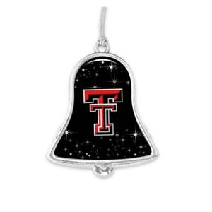 Texas Tech Red Raiders Silver Bell Metal Christmas Ornament Gift Decoration UT