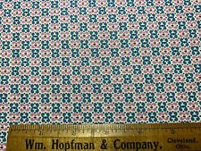 Vintage Cotton Fabric 30s40s SWEET Lil Pinkish Purple & Turquoise Floral 35w 1yd