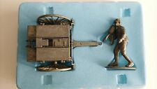 Atlas 1/24 Metal alloy tin figure WWI French Soldier & Ammo Caisson #2595102