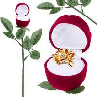 5PCS Velvet Rose Engagement Wedding Earring Ring Pendant Jewelry Display Box New