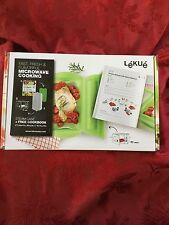 NEW NIB FLAWLESS Exceptional LEKUE Microwave Cooking STEAM CASE TRAY & COOKBOOK
