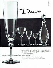 PUBLICITE ADVERTISING 037  1963   Cristal Daum  carafe verres Bolèro