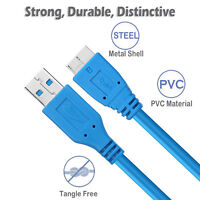 USB 3.0 A To Micro B Cable For WD Seagate Toshiba Samsung External Hard Drive AU