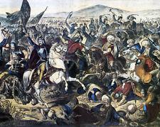 Battle Of Kosovo Serbian Ottoman Empire European Painting Real Canvas Art Print