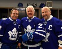 Doug Gilmour Wendel Clark Darryl Sittler Toronto Maple Leafs UNSIGNED 8x10 Photo
